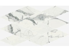 Charme Deluxe Invisible White Mosaico Diamond Lux 28x48 Италон